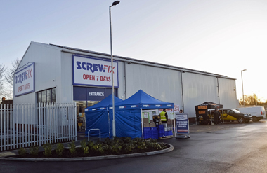 Screwfix Peterborough side view