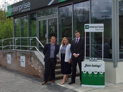Vehicle rent firm Enterprise green their Monmouth business