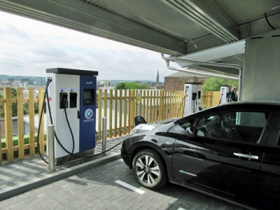 Charging hub in Dundee incorporates solar and energy storage