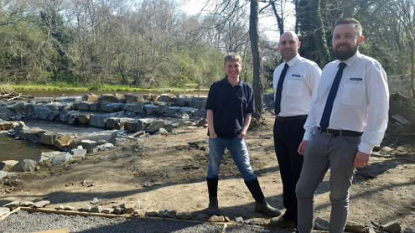 Generosity with temporary roadway helps a Durham fish pass