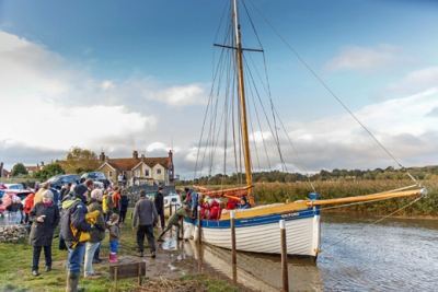 Long lost Norfolk port opens for business by boat