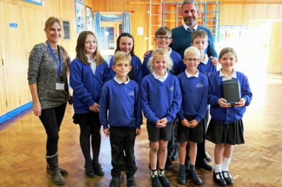 Community walk to school project sees commerce and charity join forces