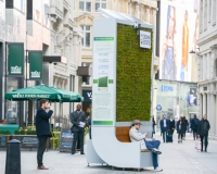 Pollution-busting 'moss trees' take root in English cities