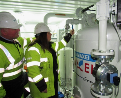 Power operator's recycling of oil prolongs equipment & reduces bills